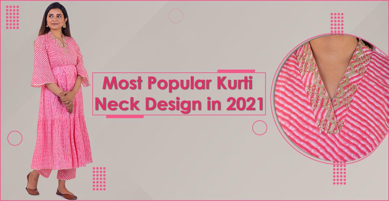 Most Popular Kurti Neck Design in 2021
