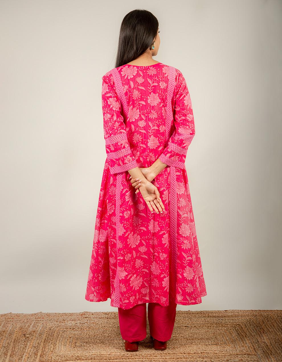 cotton printed kurta with pants