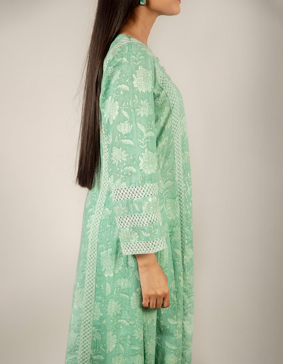 green cotton kurta designs for sale