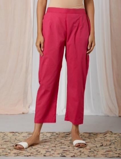 Pink color beautiful pants designs