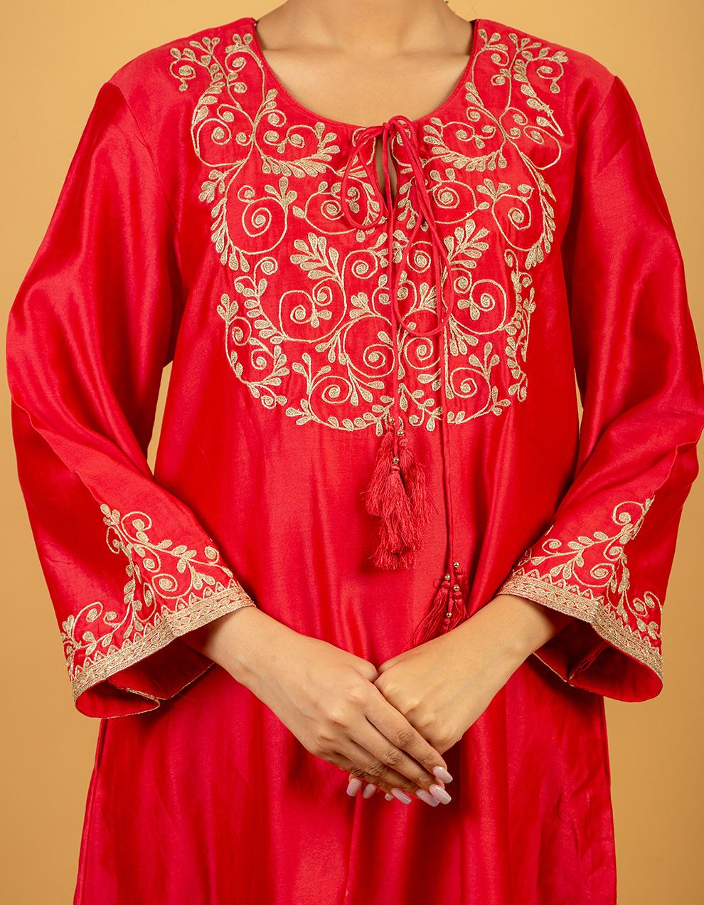silk kurta with pants