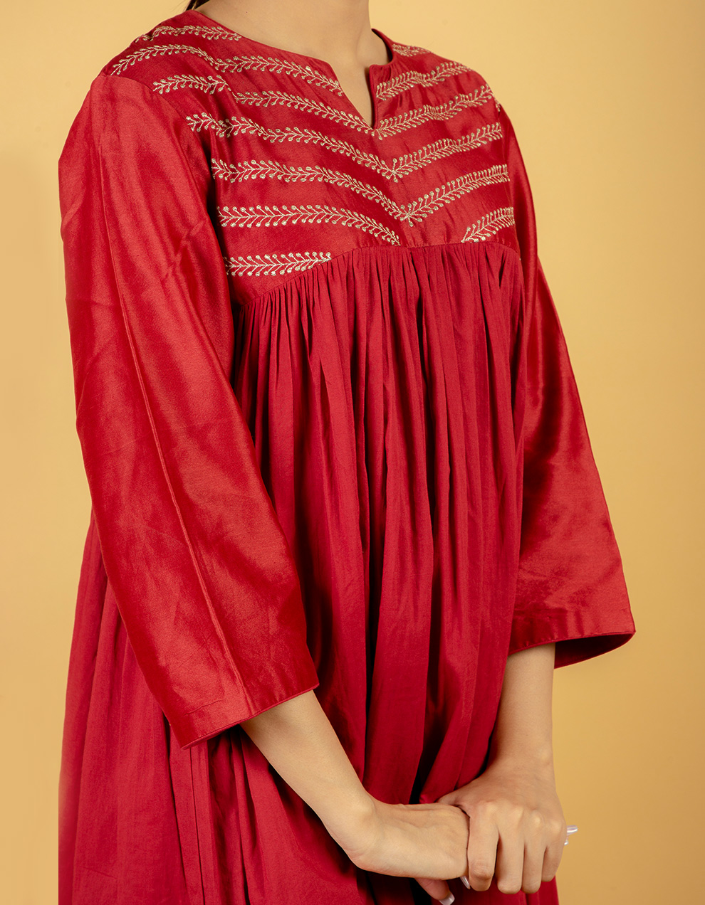 pure kurta with pants for women