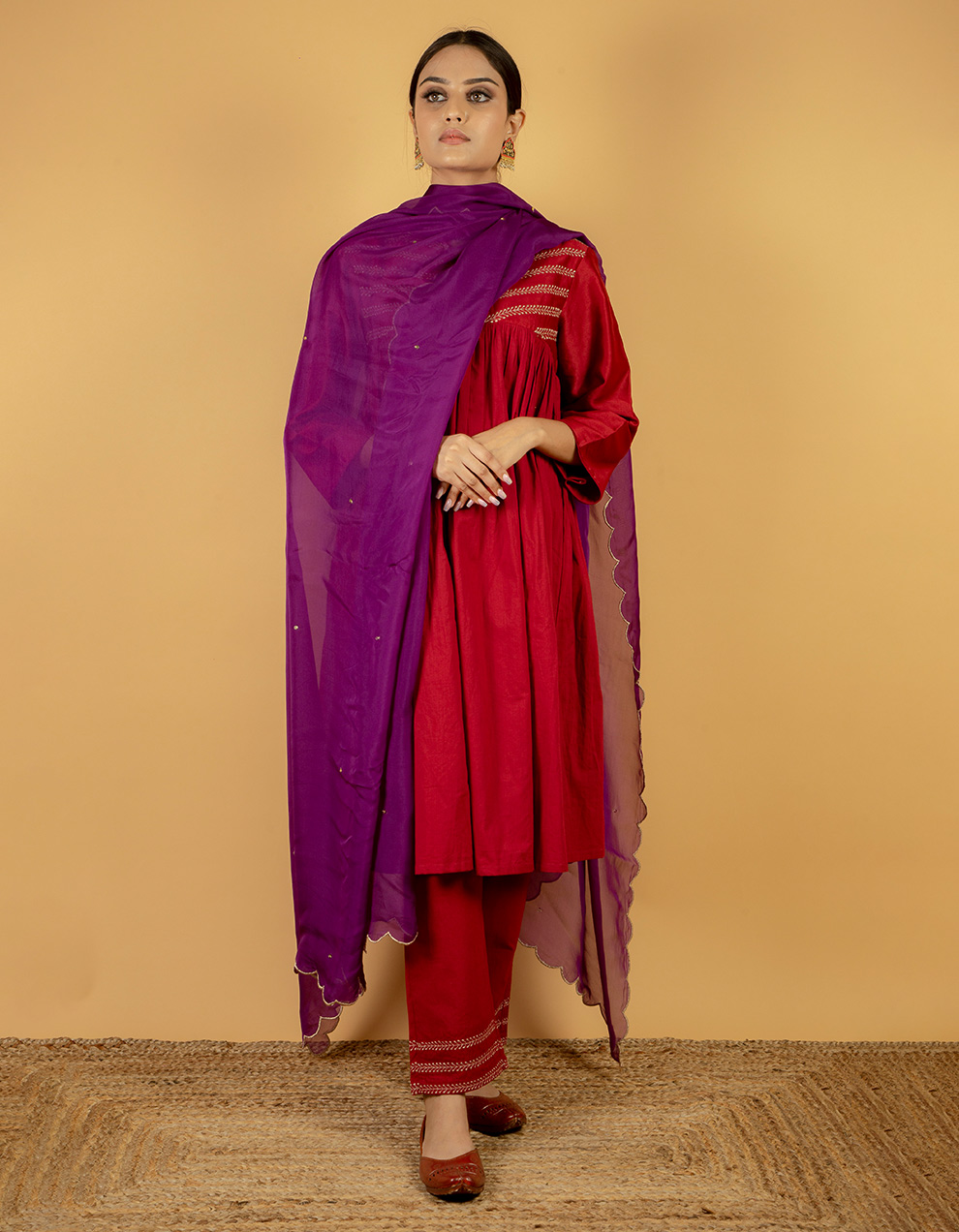 latest dupatta designs in India.