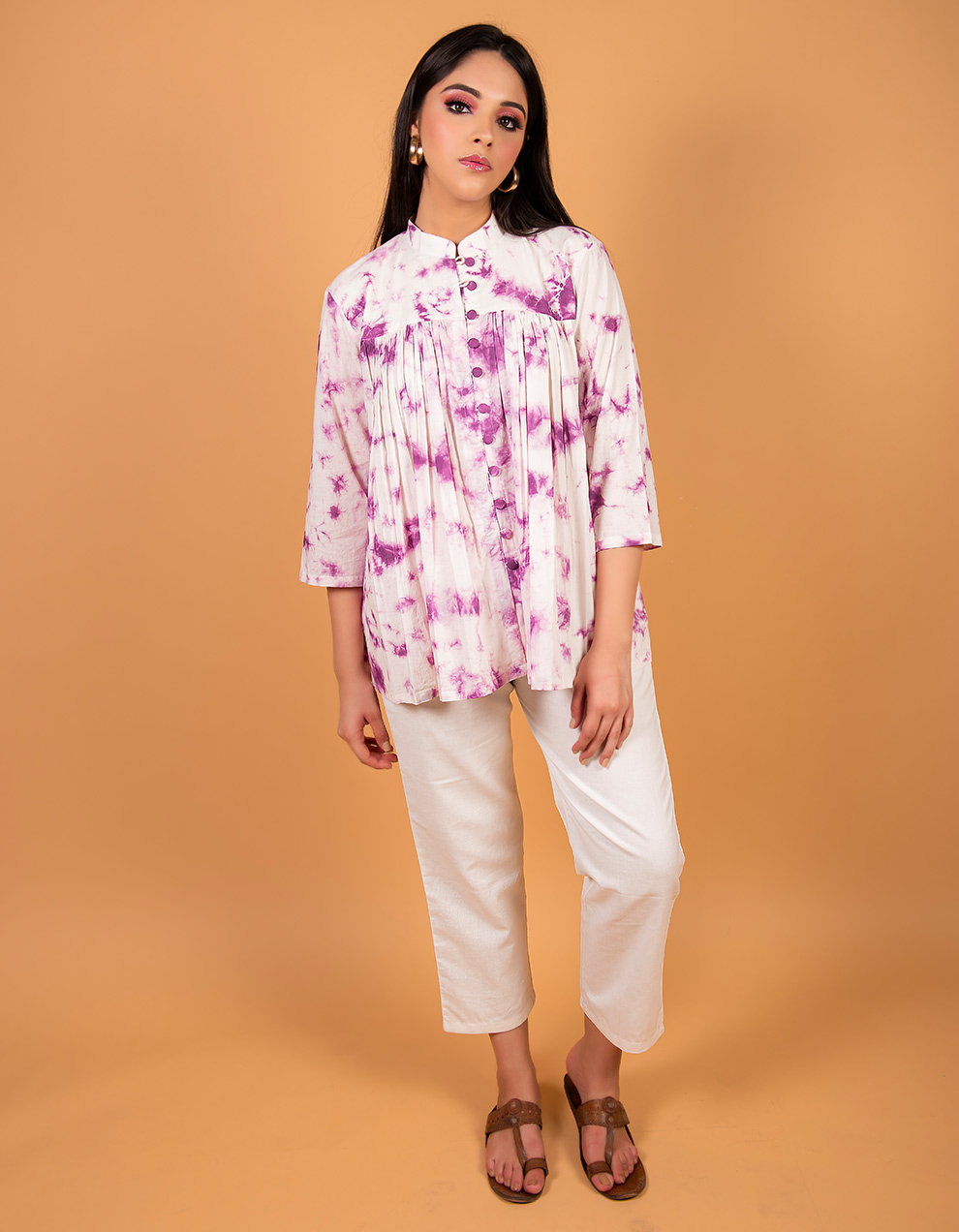 Purple cotton Kurta
