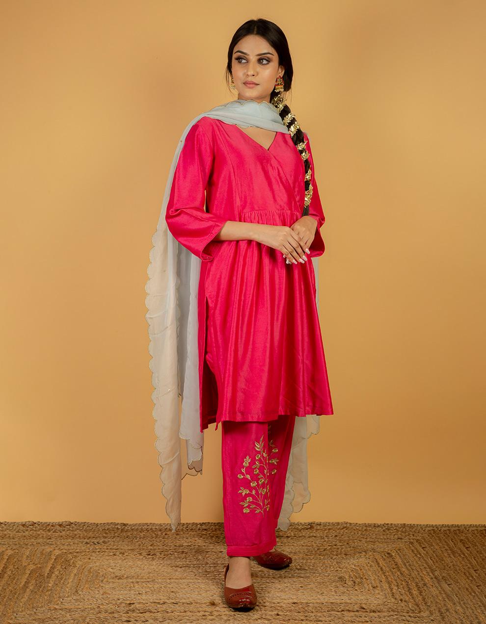 Beautiful silk pants designs for ladies in India