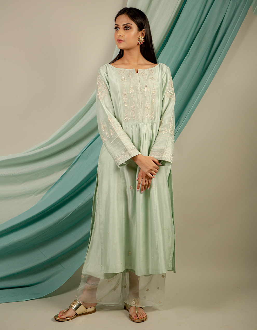 Buy best chanderi silk kurta