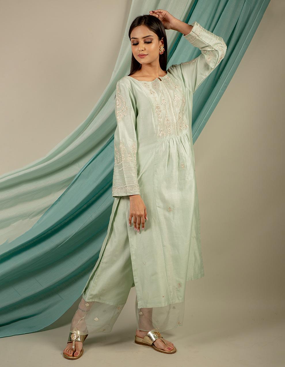 Buy best chanderi silk pants