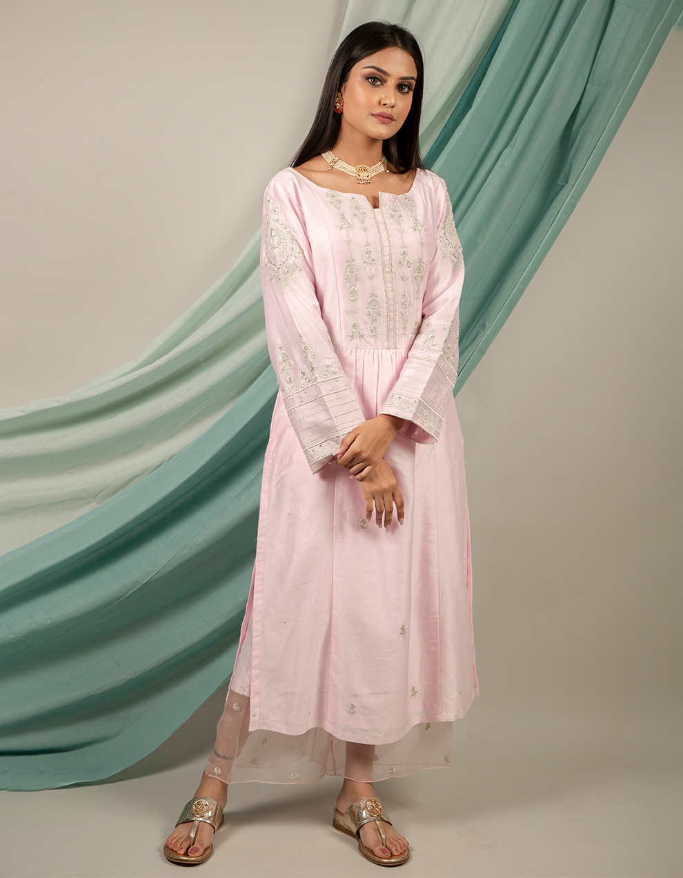 Buy best silk kurta with silk pants designs