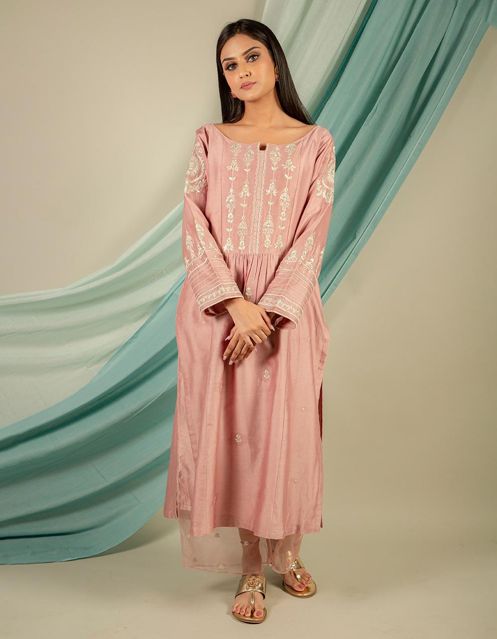 Buy best silk kurta with silk pants designers