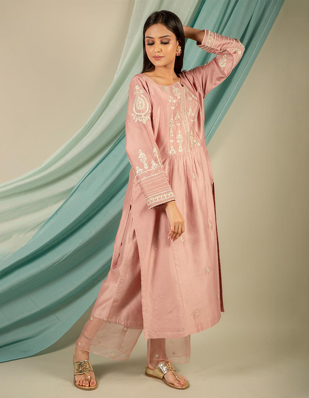 Buy best chanderi silk kurta designers