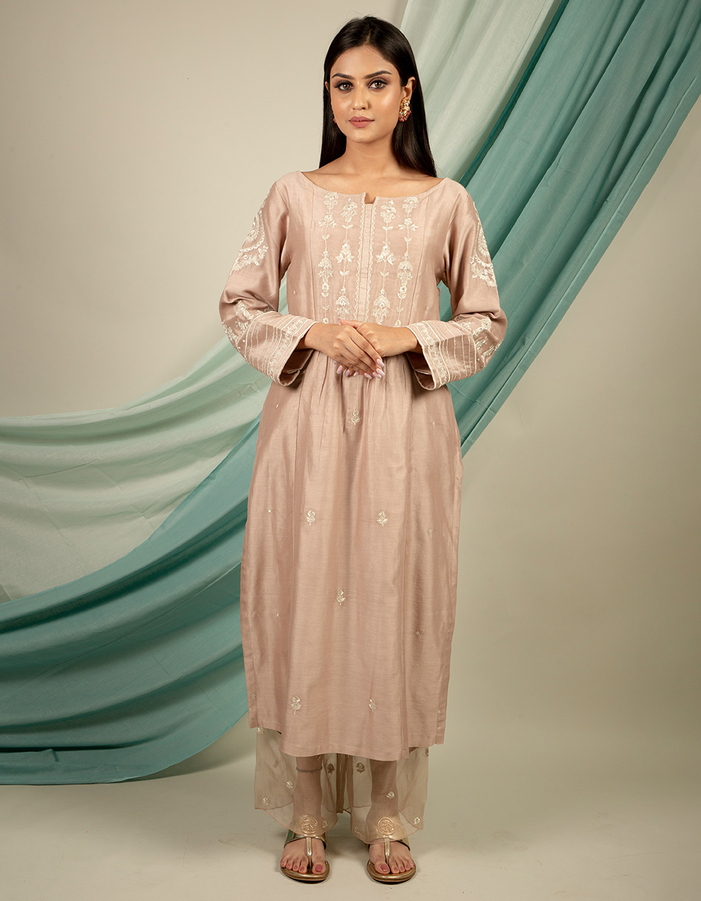Silk kurta with silk pants designs online from top brands at best price
